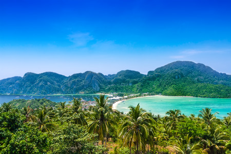 Travel vacation background - Phi-Phi island, Krabi Province, Thailand, Asia photo