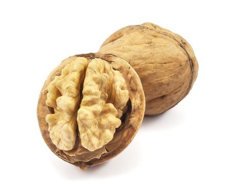 walnuts on a white background photo