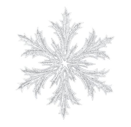 Shiny snowflake isolated on winter background 스톡 콘텐츠
