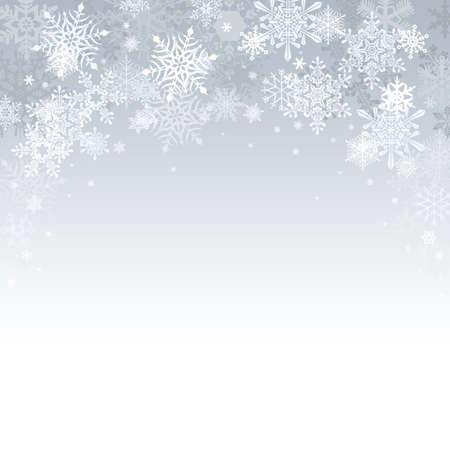 copo de nieve: Fondo de plata de la Navidad con las estrellas y las luces de bokeh Foto de archivo