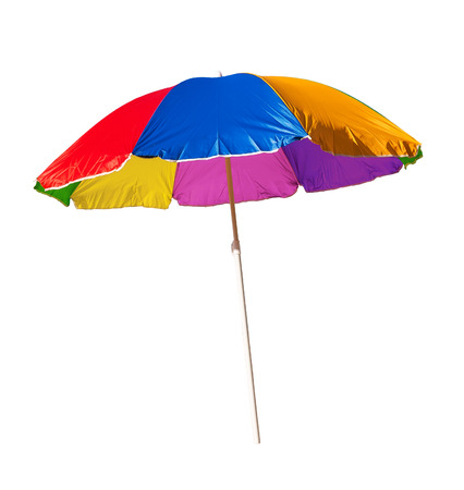 beach umbrella isolated on a white background photo