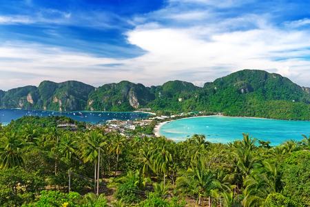 Travel vacation background - Phi-Phi island, Krabi Province, Thailand, Asia photo