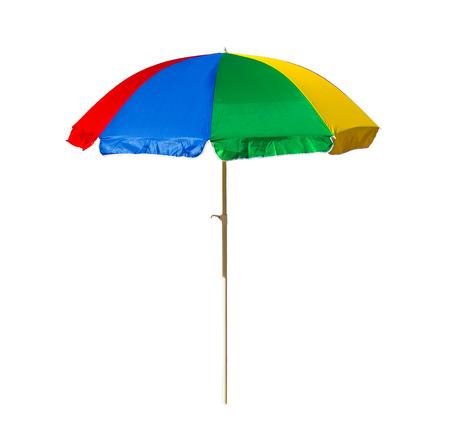 beach umbrella: beach umbrella isolated on a white background