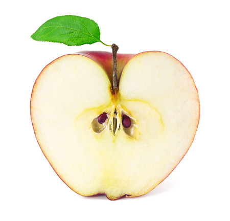 Apple in a cut on a white background