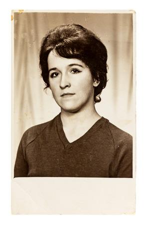 photo vintage de la belle jeune femme (circa 1960)
