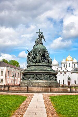millennium: Bronze monument to the Millennium of Russia, Velikiy Novgorod, Russia