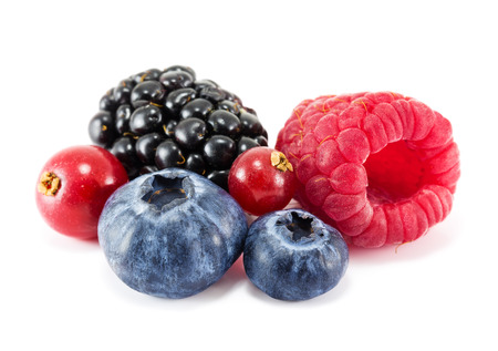 Fresh ripe berry on a white background