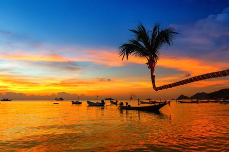 Beautiful sunset on the beach, Koh Tao, Thailand