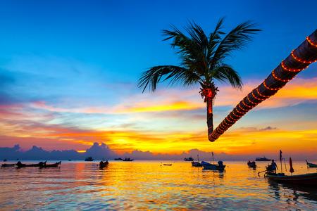 koh: Beautiful sunset on the beach, Koh Tao, Thailand