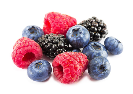berries: Fresh ripe berry on a white background