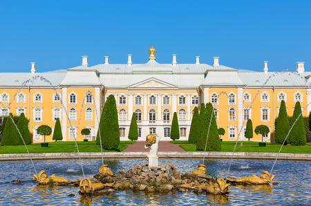 spurt: Peterhof Palace, St. Petersburg, Russia