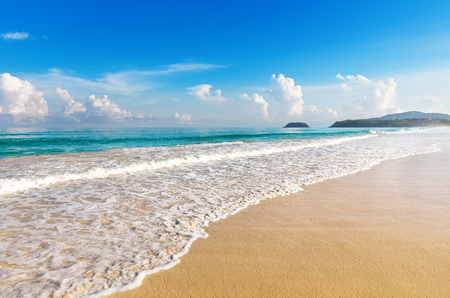 shore: Beautiful sea. Karon beach, Phuket, Thailand. Asia
