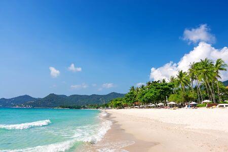 thailand beach: View of Chaweng beach, Koh Samui (Samui Island), Thailand