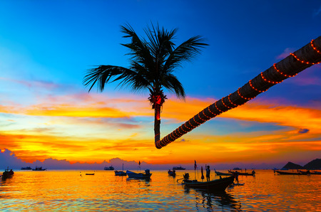 koh: beautiful sunset on the beach