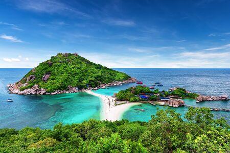 thailand beach: Beautiful white sand beach of Koh Tao, Thailand