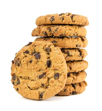 galleta de chocolate: de chocolate chips de cookies, close-up