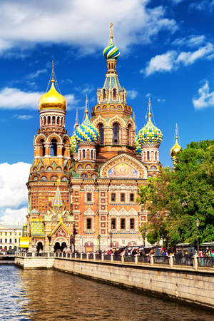 Church of the Savior on Spilled Blood, Saint Petersburg, Russia Archivio Fotografico