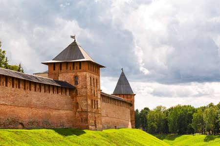 novgorod: Old towers of Novgorod Kremlin, Veliky Novgorod, Russia