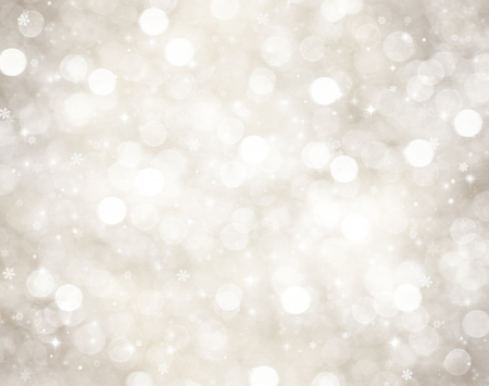 frames borders: Decorative christmas background with bokeh lights and snowflakes Stock Photo