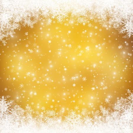 ピンぼけ光と雪装飾クリスマスの背景