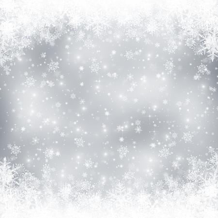 Dekorative Weihnachten Hintergrund mit Bokeh Lichter und Schneeflocken Standard-Bild - 48326538