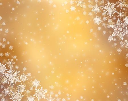Dekorative Weihnachten Hintergrund mit Bokeh Lichter und Schneeflocken Standard-Bild - 48326539