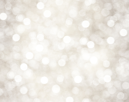 grey background: Decorative christmas background with bokeh lights and snowflakes Stock Photo