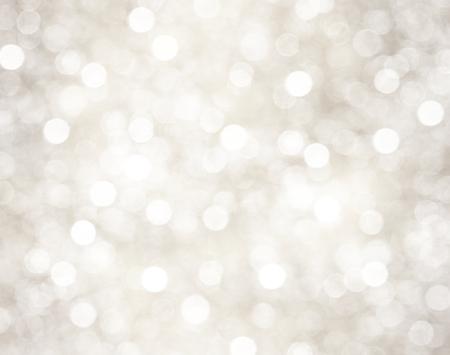 fond: Fond de Noël avec des lumières décoratives bokeh et flocons de neige