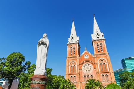 ホーチミン市、ベトナムのサイゴン ノートルダム大聖堂バシリカ。アジア
