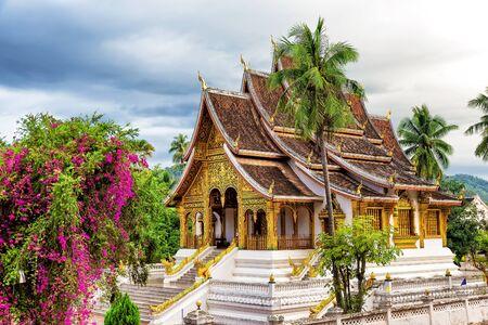 pra: Wat Xieng thong temple,Luang Pra bang, Laos Stock Photo
