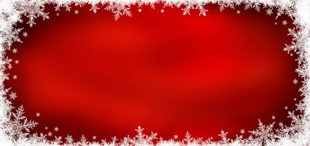 Decorative Christmas background with bokeh lights and snowflakes. Christmas and Happy New Year redr background with snowflake. 版權商用圖片