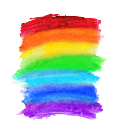 Abstract watercolor rainbow colors background. Hand drawn, paper texture. Gay pride LGBT, against homosexual discrimination symbol concept