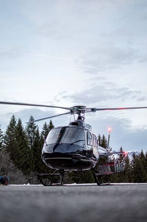 picture of rescue helicopter in mountains