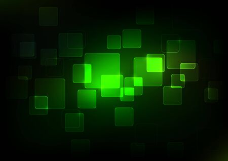 internet technology: Abstract Green Squares Background, Vector Illustration