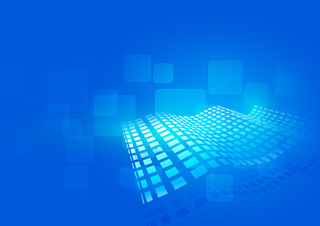 squares background: Abstract Vector Squares Blue Background Illustration