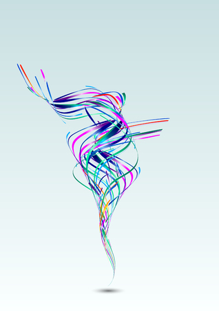 Abstract Lines Vector Design Background