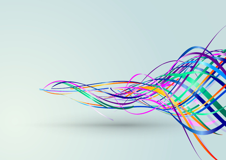 arts: Abstract Lines Background, Vector Illustration