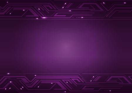violet background: Vector Technology Violet Background, Illustration Vettoriali