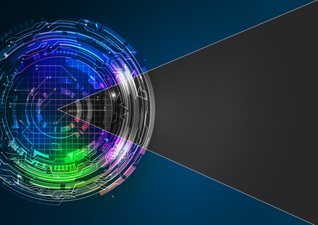 digital: Abstract Digital Technology Vector Background