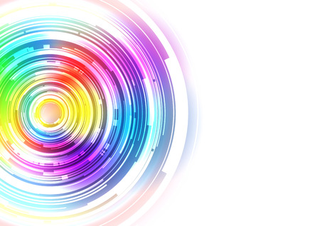 Colorful Technology Circle Background, Vector Illustration  イラスト・ベクター素材