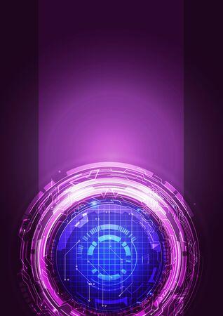 violet background: Abstract Digital Technology Violet Background, Vector Illustration