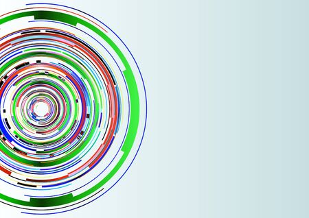 technology background: Colorful Abstract Circles Technology Background, Vector Illustration