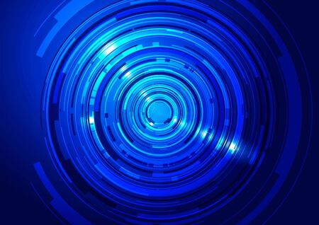 technology background: Blue Abstract Circles Technology Background, Vector Illustration Illustration