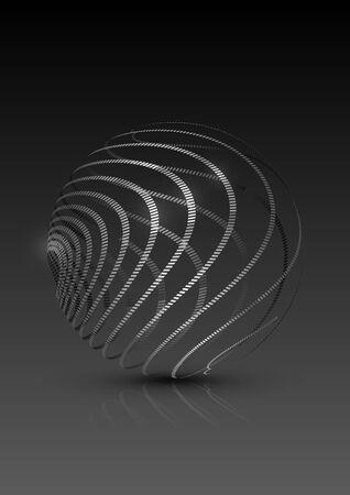 energy background: Abstract Circle Dark Background, Vector Illustration Illustration