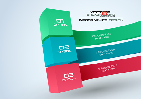 Modern Infographic Design Elements Vector Illustration Banner Numbers & Icons Ilustrace