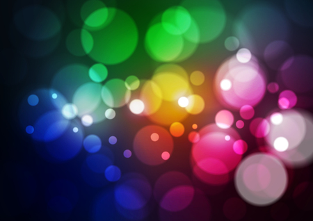 Abstract Light Bokeh Colorful Background, Vector Illustration Ilustrace