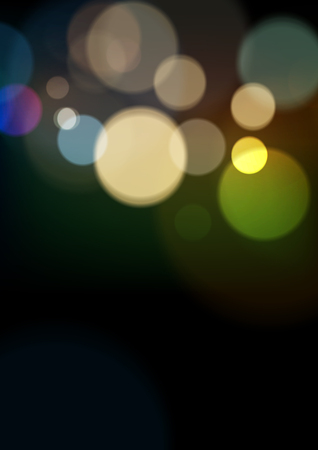 Abstract Light Bokeh Background, Vector Illustration