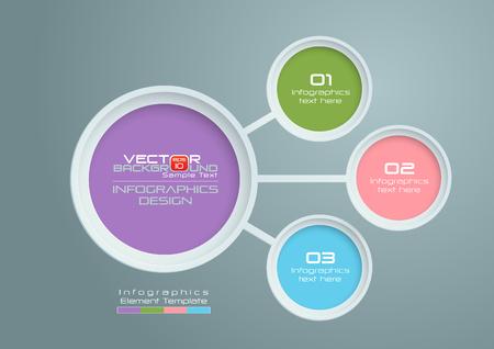 Círculos con colores diseño de infografías, ilustración vectorial