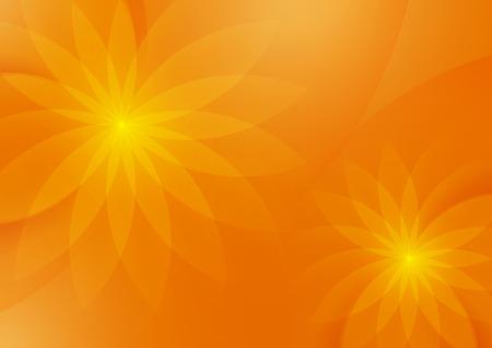Abstract Floral Orange Background for Design, Vector Illustration