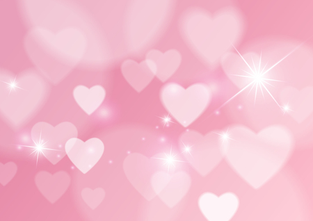 Love Abstract Background with Hearts and Bokeh Lights, Vector Illustration Illustration